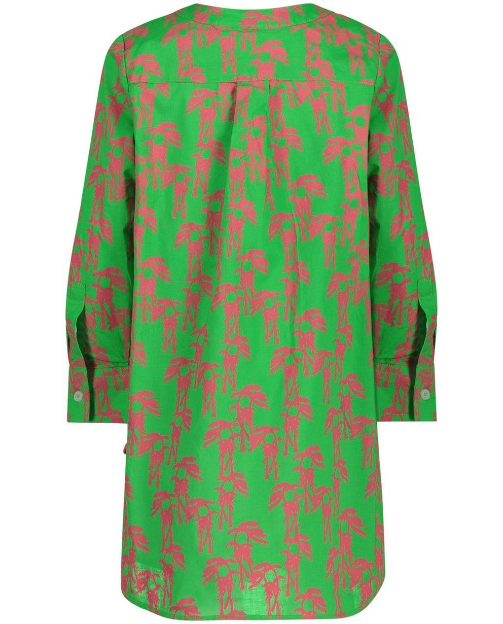 Robes - Robe-chemisier verte